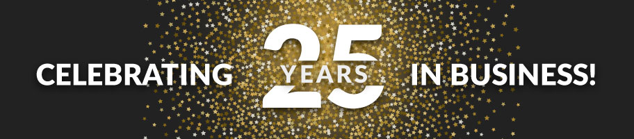 celebrating 25 years in business banner